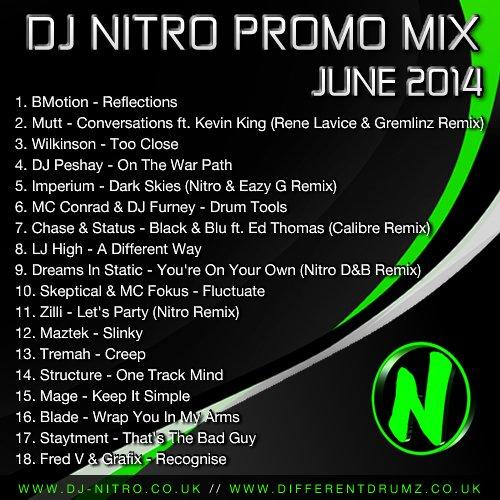 DJ Nitro Promo Mix June 2014 Tracklist